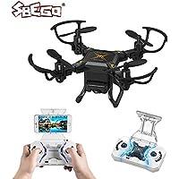 Flytec RC Drone, PP-127W Foldable RC Quadcopter 4 CHS Six Axis FPV RC Drone Wifi 0.3MP Remote Control Mini Porcket Drone
