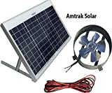 Amtrak Solar Powered Attic Gable Fan-40 Watt Ventilator, 25 Year Warranty