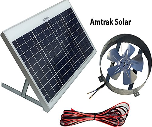 Amtrak Solar Powered Attic Gable Fan-40 Watt Ventilator, 25 Year Warranty by Amtrak Solar