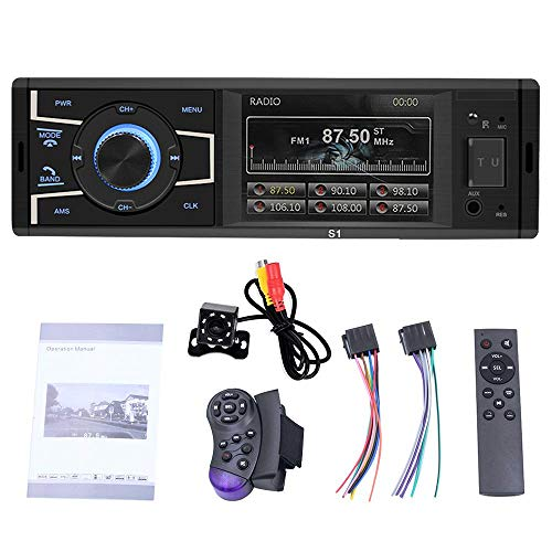 MOGOI Car MP5, Wireless BT Car Audio Video Player Built-in 3.2 Inch HD Screen, Car Stereo Radio MP5 Music Player with Remote Control