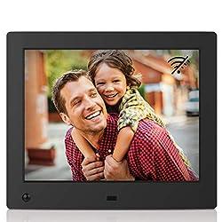 NIX Advance 8-Inch Digital Photo Frame X08E (Non-WiFi) - Digital Picture Frame with 1024x768 XGA IPS Display, Motion Sensor, Photo Auto-Rotate, USB and SD Card Slots and Remote Control