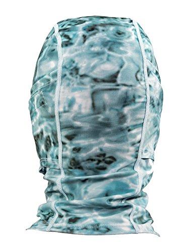 Aqua Design: Cool Weather Mens Face Mask UPF50+ Sun Wind Helmet Liner Balaclava: Aqua Sky by Aqua Design (Image #3)