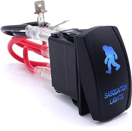 Blue Rocker Switch BUMPER LIGHT BAR Polaris RZR Yamaha Honda Can-Am