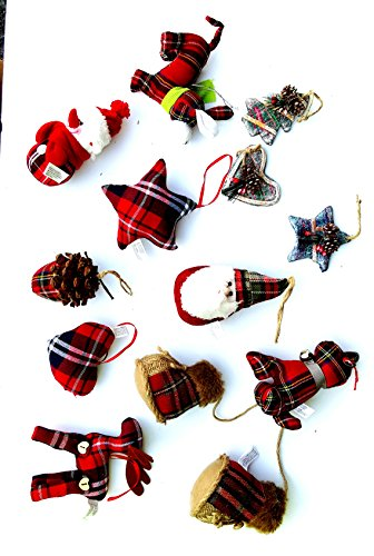 Assorted Plaid Christmas Ornaments (Plaid Christmas Ornaments)