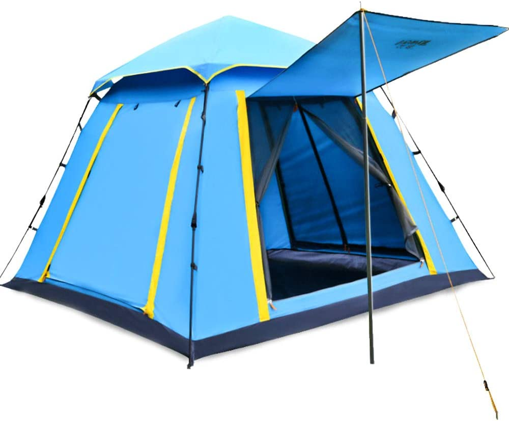 Dome Waterproof Sun Shelter Camping Three To Four Person Family Pop Up Tent