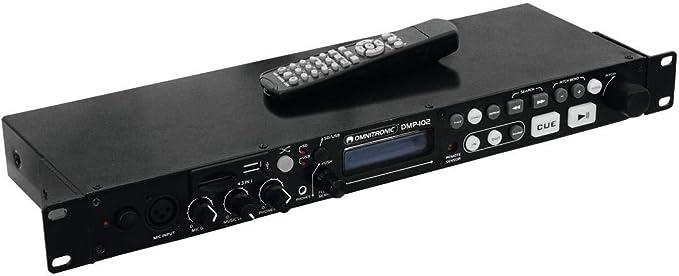 Omnitronic Dmp 102 Usb Sd Card Player Mp3 Player Für Sdhc Mmc Speicherkarten Und Usb Geräte Mit Ir Fernbedienung Wiedergabe Von Mp3 Dateien Von Sdhc Mmc Speicherkarten Und Usb Geräten Musikinstrumente