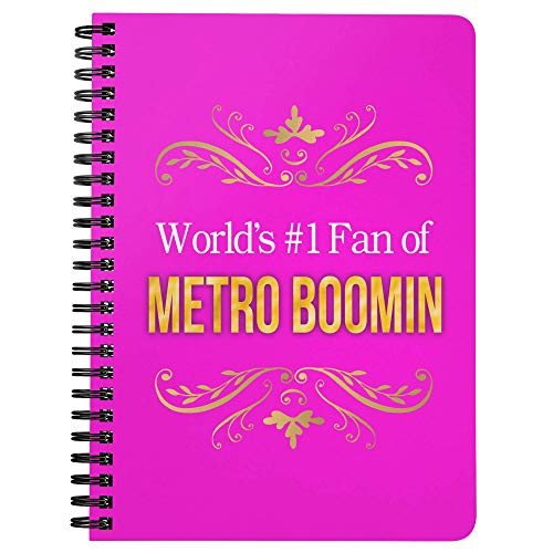 World's #1 Fan of Metro Boomin Spiral Notebook Journal Diary: Metro Boomin Merchandise 5