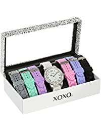 Women's XO9069 Silver-Tone Watch with Seven Interchangeable Bands