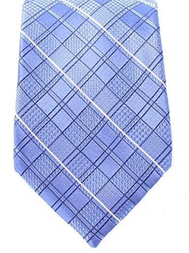 Michael Kors Mens Classic Houndstooth Grid-Print Silk Neck Tie Blue Not Applicable