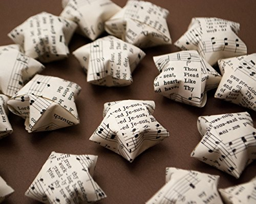 [Vintage Hymn Paper Star Music Confetti Table Scatter for Christian Wedding Party Decoration (20] (Church Choir Costumes)