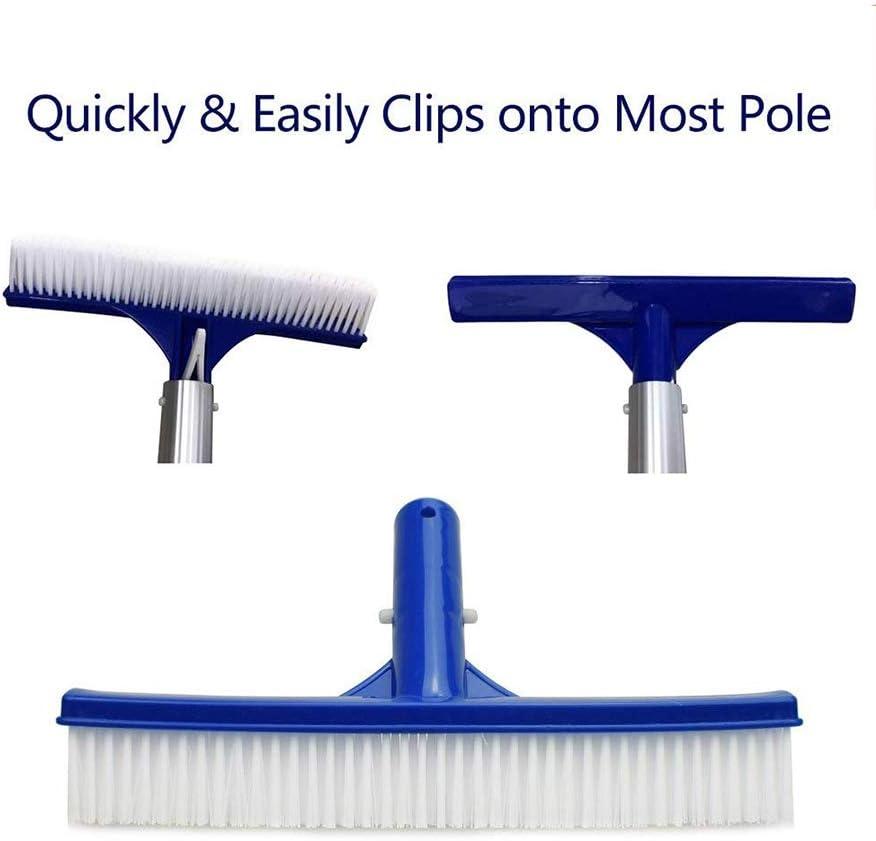 PVC-Kunststoff//Stahldraht//Aluminium-Borsten NOBRAND Poolb/ürsten 25,4 cm 45,7 cm strapazierf/ähige Schwimmbad-Reinigungsb/ürste Algenschrubber Reinigungswerkzeuge und Zubeh/ör