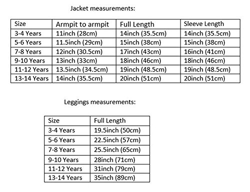 LotMart Girls Blazer Bundle Textured Leggings Style 3 in Mint Black 5-6 Y by LotMart (Image #4)'