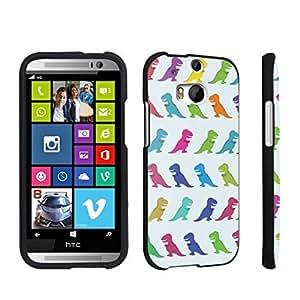 DuroCase ? HTC One M8 Hard Case Black - (Cute Dinosaurs)