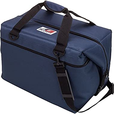 AO Coolers Canvas Soft Cooler with High-Density Insulation, Navy Blue, 12-Can