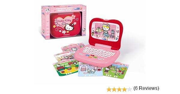Amazon.es: Clementoni 62192 Computer Junior Hello Kitty - Ordenador portátil para niños con diseño de Hello Kitty (30 Actividades para Aprender Letras, Cifras y Colores, Importado de Francia)