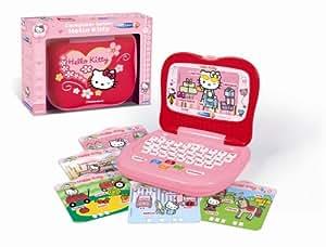 Clementoni 62192 Computer Junior Hello Kitty - Ordenador portátil para niños con diseño de Hello Kitty (30 actividades para aprender letras, cifras y colores, importado de Francia)
