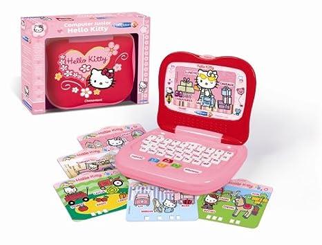 Clementoni 62192 Computer Junior Hello Kitty - Ordenador portátil para niños con diseño de Hello Kitty