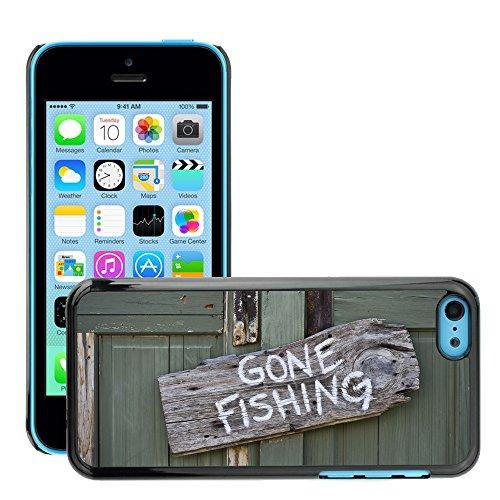Premio Sottile Slim Cassa Custodia Case Cover Shell // V00002600 Gone Fishing // Apple iPhone 5C