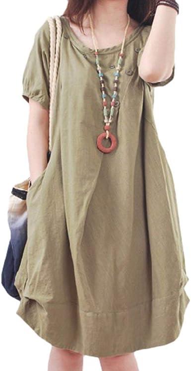 Vestidos Party Mujer Verano Elegantes Moda Vestidos De Camisa ...