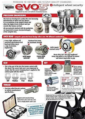 UKB4C Locking Wheel Nut Set Land Rover Range Rover Sport 20042013 Thatcham Approved