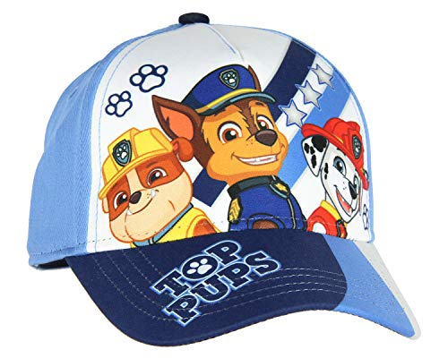 Nickelodeon Paw Patol Hat Kids Top Pups Chase Rubble Marshall Character Youth Cap Blue