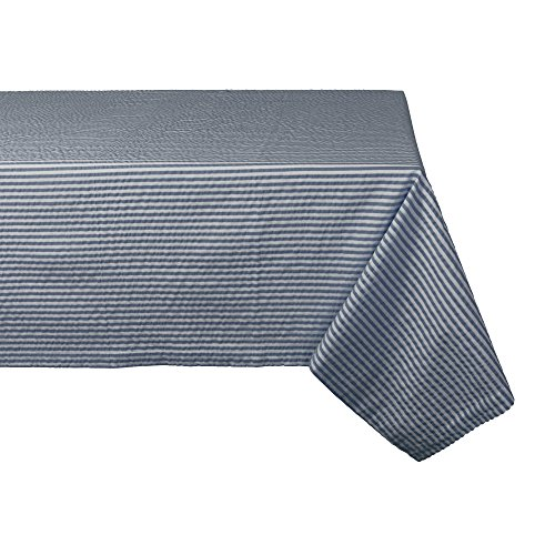 DII Cotton Seersucker Striped Tablecloth for Weddings, Showers, Summer Parties, and Everyday Use, 60x120
