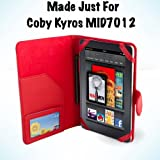 Coby Kyros MID7012 7-Inch Android Leather Case - Red