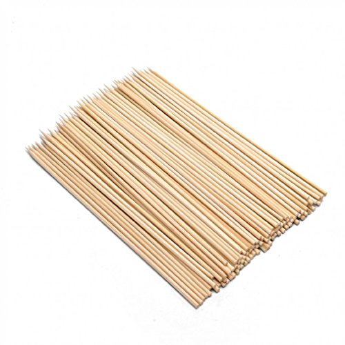 JapanBargain 4115x3, 300 pcs Bamboo Barbecue Skewer, 10-inch
