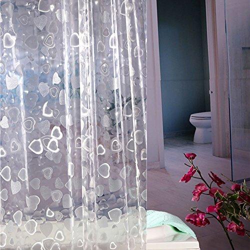 Wimaha Waterproof Plastic Shower Curtain Liner