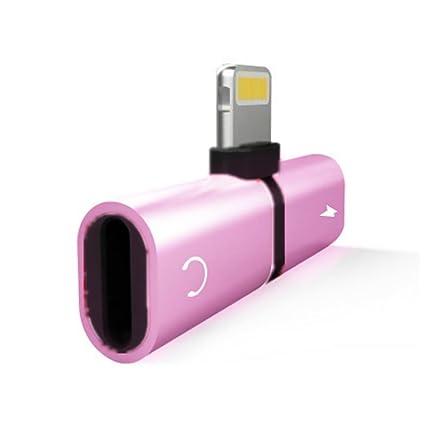 para iPhone Adaptador de Auriculares Sungpunet 7 8 Adaptador Splitter X Dual iPhone Rayo Accesorios 2 en 1 para Auriculares de Audio del Adaptador del ...