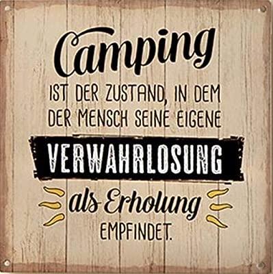 G.H. Cartel de Metal Vintage Retro, Modelo: Camping es el ...