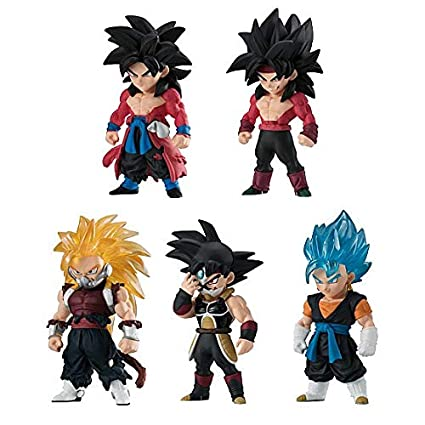 Bandai Shokugan Dragon Ball Heroes Adverge Action Figure Set Of 5