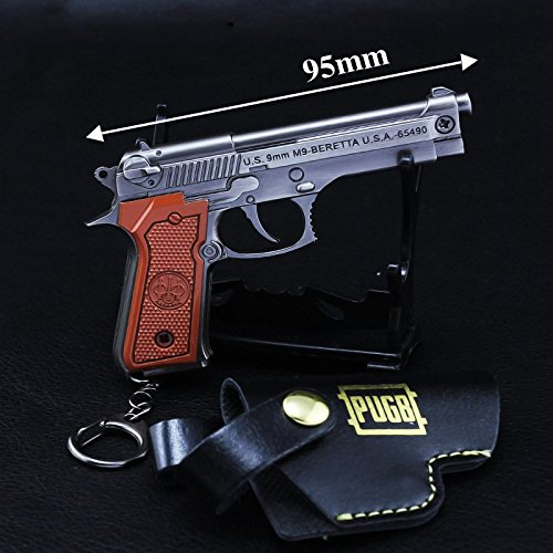 chouge games Eat Chicken 3.5'' metal P18C Pistol Model Figure Arts Toys Collection Keychains Gift within Holster by chouge (Image #1)
