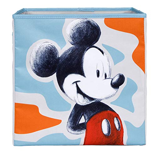 Everything Mary Mickey Mouse Collapsible Storage Bin - Cube Organizer for Closet, Kids Bedroom Box, Nursery Chest - Foldable Home Decor Basket Container with Strong Handles and Design (Containers Storage Mickey Mouse)