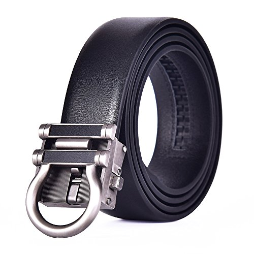 Talleffort Leather Belt For Men with Automatic Buckle Ratchet Belt Adjustable Size (Adjust from 38'' to 45'' Waist, BYK) by Talleffort