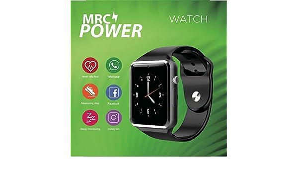 RELOJ MRC POWER SMARTWATCH CARDIO IOS/AND BLACK: Amazon.es ...