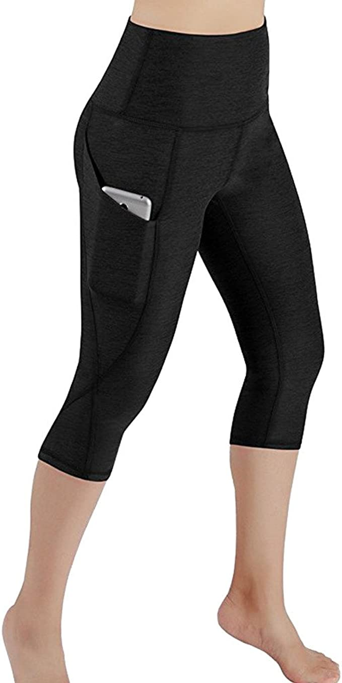 AmyDong Yoga Pants, Women Hight Waist Yoga Sports PantsRunning Gym Fitness Stretch Trouser Mesh Splicing Leggings