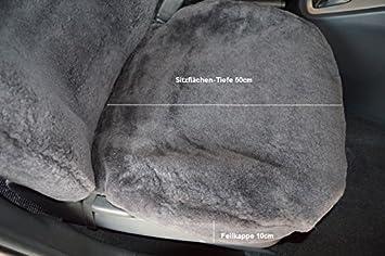 mit hoher Sitzlehne bis 65cm Leibersperger Felle 1Paar Autoschonbez/üge Luxus Autofelle komplett aus echtem Lammfell Premium Schiefer Direkt vom Hersteller