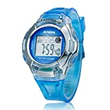 Voberry® Sports Digital LED Watches Alarm Date Rubber Wrist Watch for Children Girls Boys (Blue) Pse-276blue (Blue)
