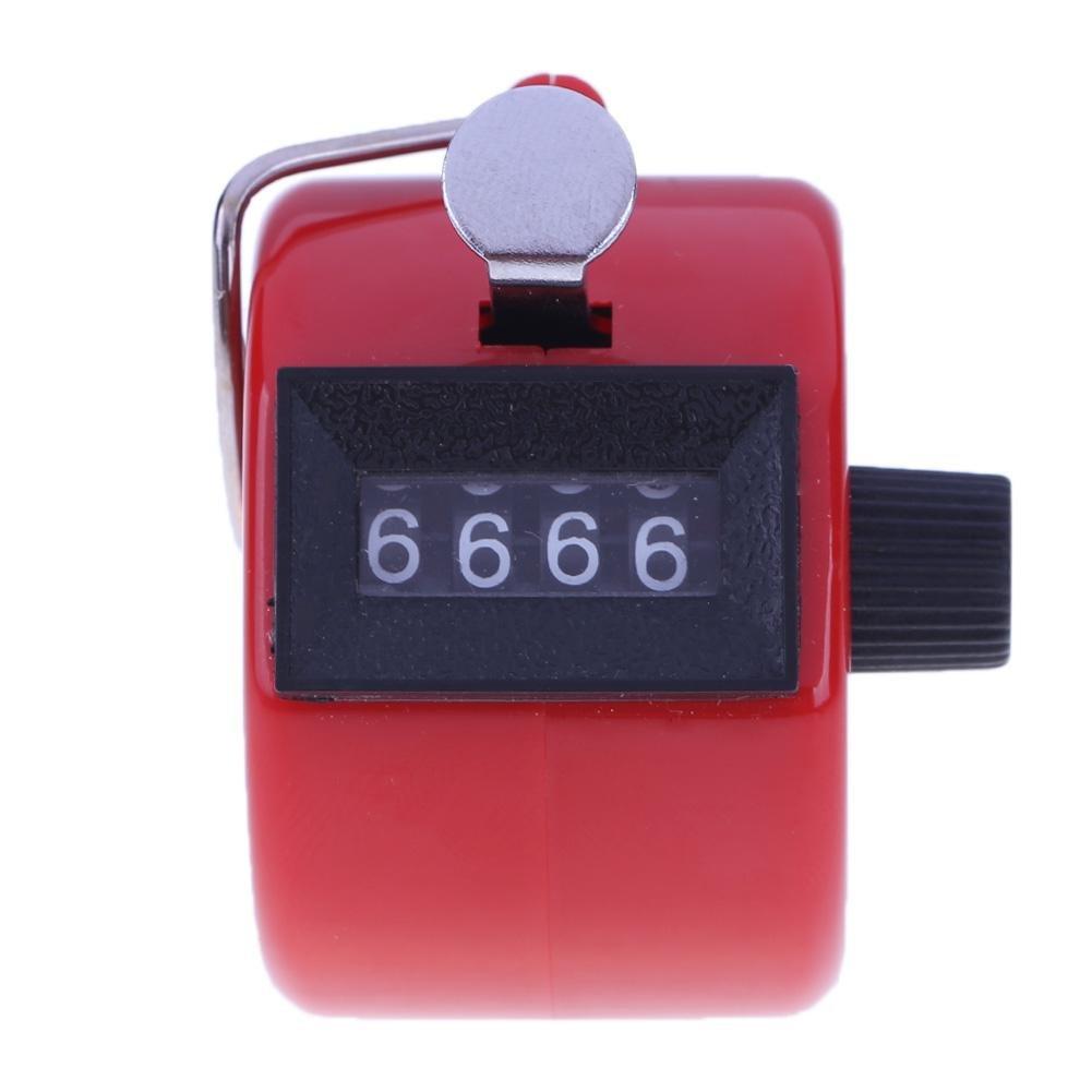 Everpert - Contador de números de 4 dígitos con carcasa de plástico, rosa