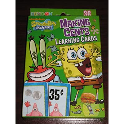Nickelodeon Spongebob Squarepants Money Making Cents Learning Cards: Everything Else [5Bkhe1004080]