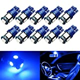 Yorkim-194-LED-Bulbs-Blue-6000k-Super-Bright-Newest-5th-Generation-Universal-Fit-Pack-of-10-T10-LED-Bulbs-Blue