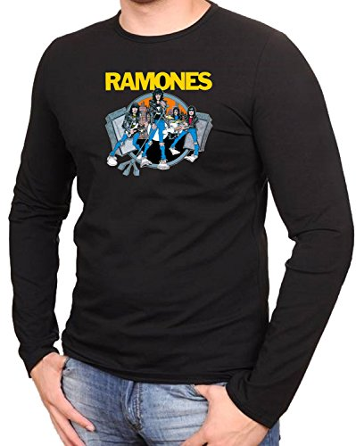 Ramones Music Rock Metal Rules Schwarze Langarmshirt -009-LA