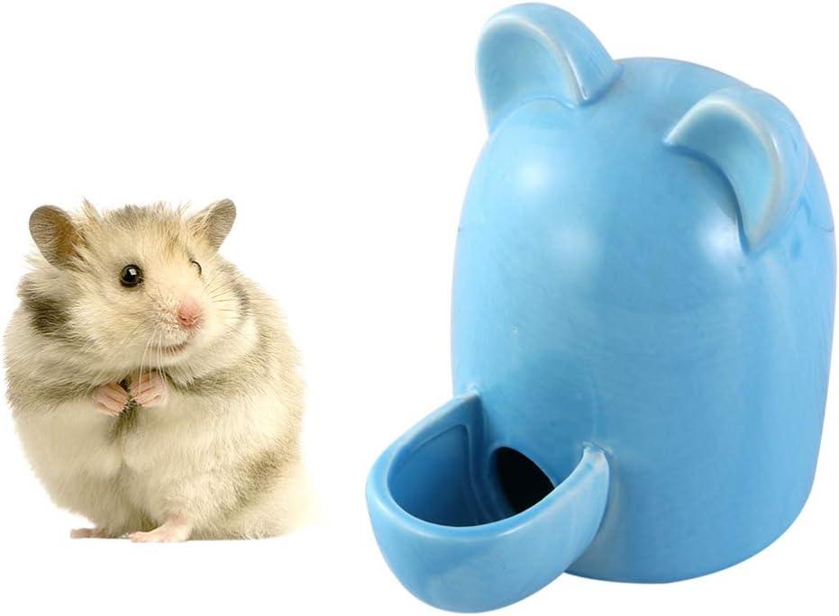 POPETPOP Hamster Botella de Agua Cuy Bebedero Bebedero Biberón Cerámica Silencioso Bebedero Automático para Pequeñas Mascotas Pájaro Erizo Chinchilla Hurón - 100Ml