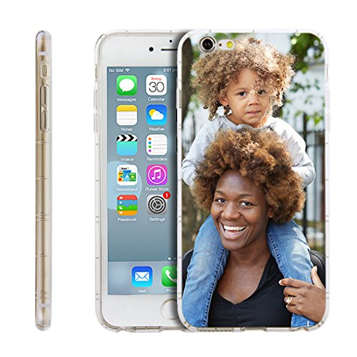 Personalized Customized Phone Case Cover for Apple iPhone XR/XS MAX/X/8 Plus/6s/7/8/7 Plus, Unique DIY Custom Picture Photo Thin Soft Rubber Silicone Gel TPU Bumper Clear Protective Case Cover Gift