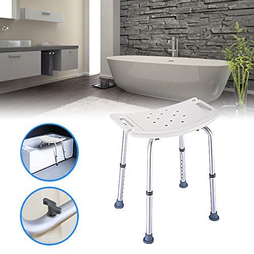 Portable de la silla del asiento de ducha ajustable 8 banqueta altura de banco Decoración Baño de Ayuda antideslizante...