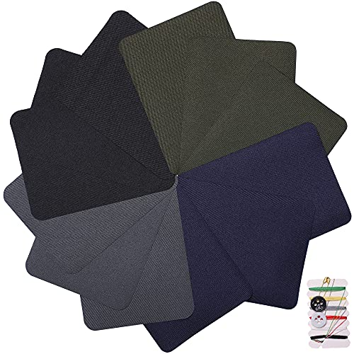 4.9in x 3.7in 12 Pieces Square 4 Colors Iron on Patches for Clothing Repair, Decorating Kit, Iron for Jeans & Clothing Repair, Style 2