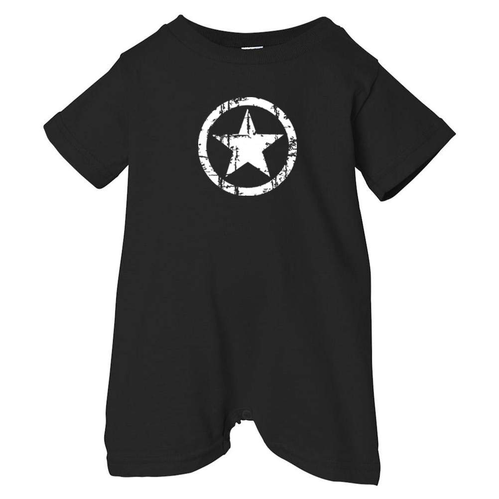 Mashed Clothing Unisex Baby White Distressed Star T-Shirt Romper