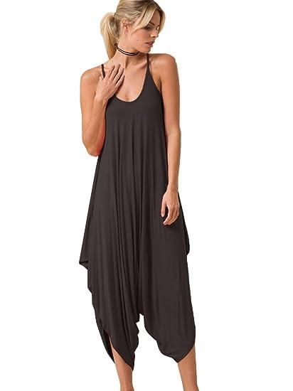 8a956435e2b5 Amazon.com  12 Ami Azalea Solid Cami Loose Harem Jumpsuit - Made in ...