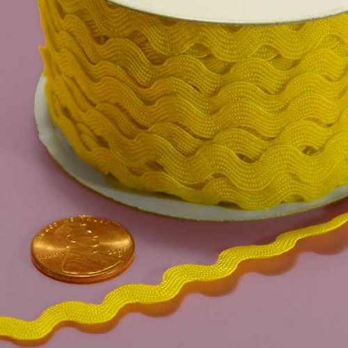 - 7MM X 25YD YELLOW RIC RAC TRIM